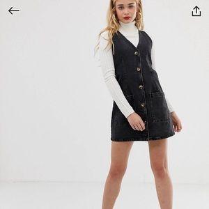 ASOS denim button front dress